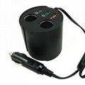 cupholder intelligent car charger with cigar cigarette lighter 7