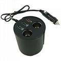 cupholder intelligent car charger with cigar cigarette lighter 10