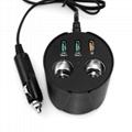 cupholder intelligent car charger with cigar cigarette lighter 11
