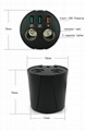 cupholder intelligent car charger with cigar cigarette lighter 13