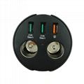 cupholder intelligent car charger with cigar cigarette lighter 14