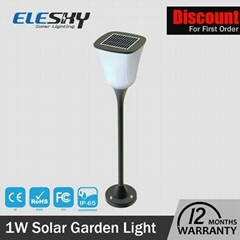 Wholesale Garden Decoration Plastic Round Led Solar Light 6000K Pure White