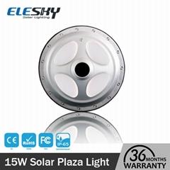 Long lighting lithium battery backup outdoor solar plaza light