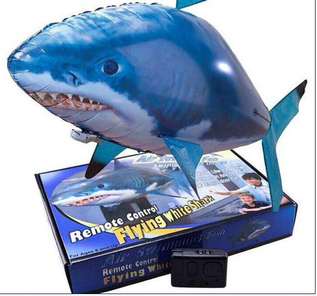 Air swimming fish remote control flying shark  1