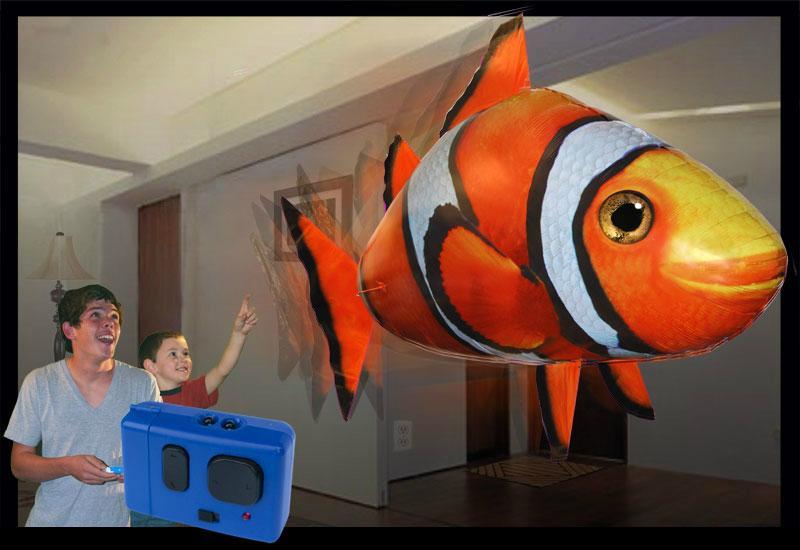 Air swimming fish遙控充氣飛魚 2