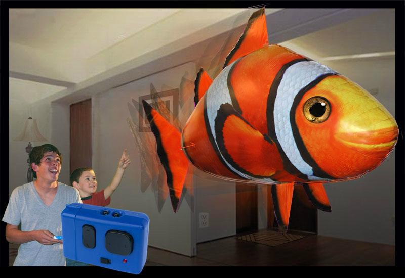 Air swimming fish remote control flying shark  2