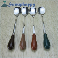 High quality new design custom colorful 15cm ceramics spoon
