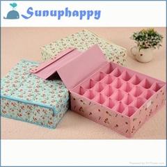 High quality custom colorful socks and underwear storage box