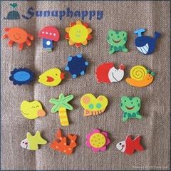 Factory supplier wholesale custom animal shape wooden fridge magnets