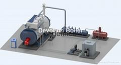 heavy oil fired industrial steam boiler 4t/h