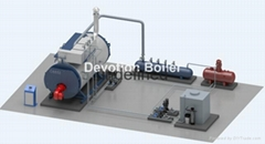 糖果工厂生产用的工业蒸汽锅炉天然气蒸汽锅炉