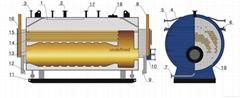 diesel oil fired industral steam boiler 1t to 20t