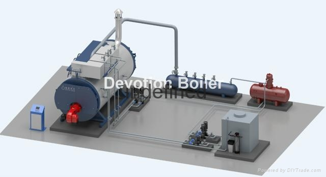 1376f96973 3 pass fire tube gas fired steam boiler 1t - WNS1-1.0-Q - DEVOTION ...
