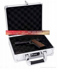 Aluminum Locking Pistol Case 10 Inch Hard Case for Handguns Gun Cases