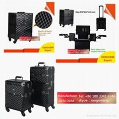 hot sale Trolley PVC nail polish carrying case, nail polish case storage