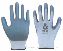 13 Gauge polyester liner with Nitrile foam coated