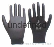 13G black pu safety glove 1