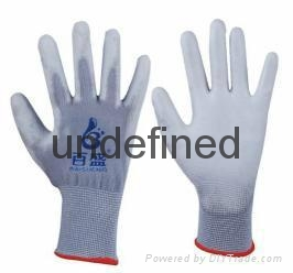 13g grey pu safety glove 1