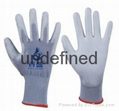 13g grey pu safety glove