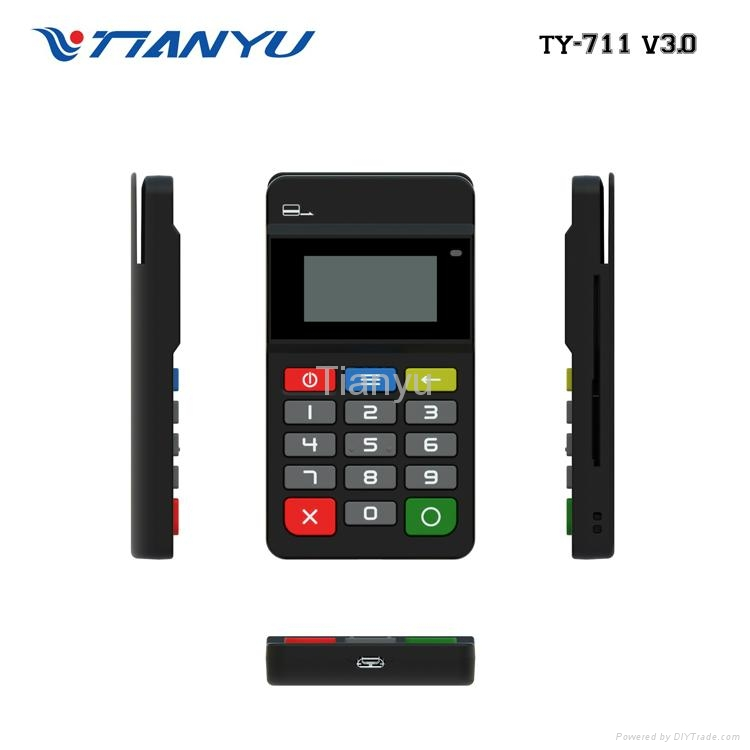 Portable POS Terminal with NFC Reader Bluetooth Card Reader with PIN PAD 3