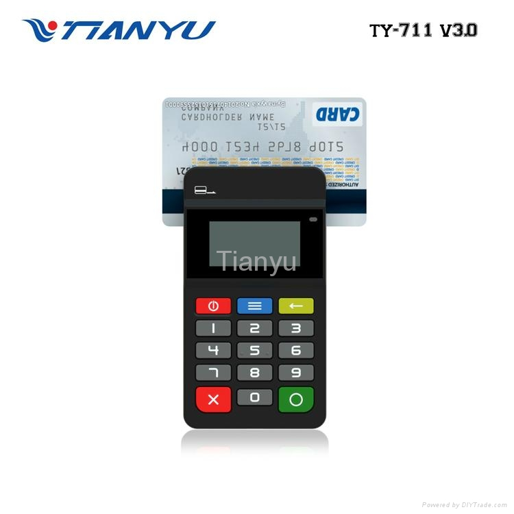 Portable POS Terminal with NFC Reader Bluetooth Card Reader with PIN PAD 1