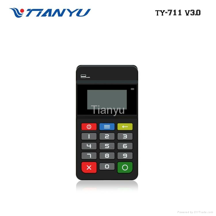 Portable POS Terminal with NFC Reader Bluetooth Card Reader with PIN PAD 4