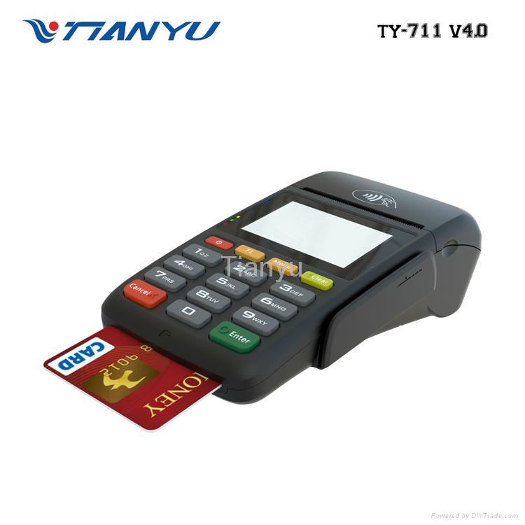 Cheap Handheld Mobile POS with Printer Bluetooth Payment Machine 2