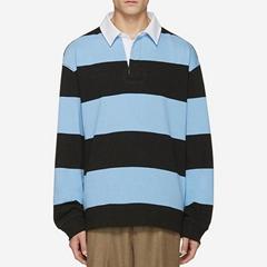 men's cotton stripe polo shirt