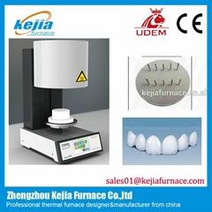 Dental porcelain furnace with vacuum pump