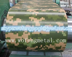 High quality camouflage army grain color coated PPGI