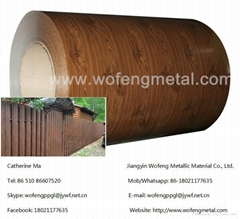 Marble  PVC laminated film  army brick  Wood pattern color coated steel coi