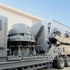 YG725E46 mobile crushing plant for 50 TPH crushing plant