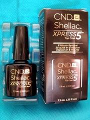 CND Shellac XPRESS 5 Top 25oz  Coat Clear LED Gel Nail Polish 5 Min Removal