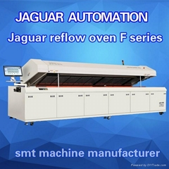 Top lead free reflow oven with eight heating zones