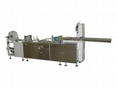 Non-woven sponge folding machine with