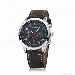 新款熱銷curren手錶男防水腕表
