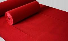 地毯生產廠家直銷紅色平面展覽阻燃地毯