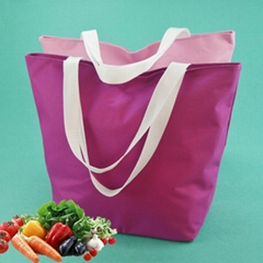 600d牛津布色丁布折疊購物袋手提袋環保收納袋廣告袋多色