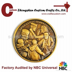 Zinc material Antique metal coin old coin
