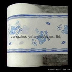 Soft Breathable Full Center lamination PE Film Back Sheet film for child diaper
