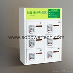 Electric Multi-Device Phone Charging Station Lockers With Pin Code Lock