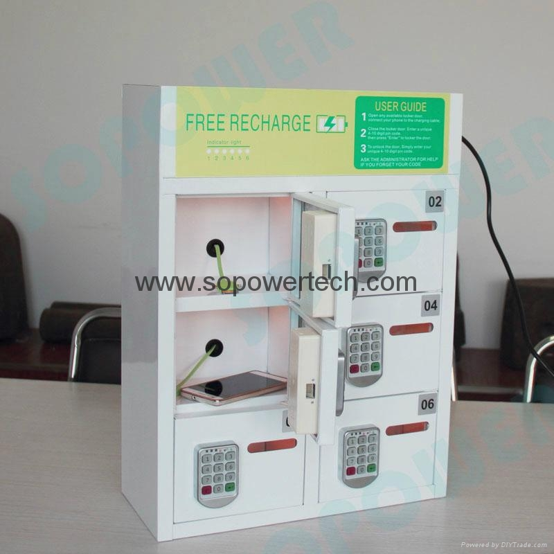 Electric Multi Device Phone Charging Station Lockers With