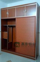 厂家促销木纹铝合金全铝衣柜铝材