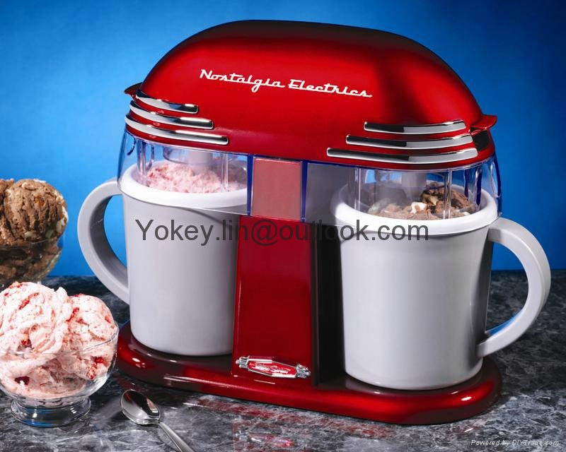 Nostalgia Electrics DIC200 Mini Ice Cream machine for home use 1