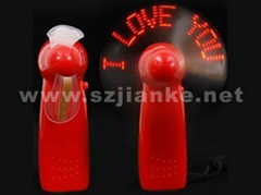 Promotional LED Light Flashing Message Mini Fan with Logo Printed (3509)