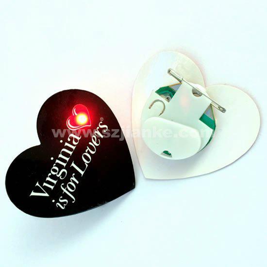 Custom Flashing LED Badge with Customzied Design (361) 1