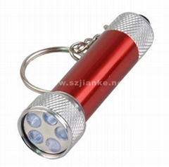 LED Flashing Keychain Promotion Gifts with Logo Print (4070)