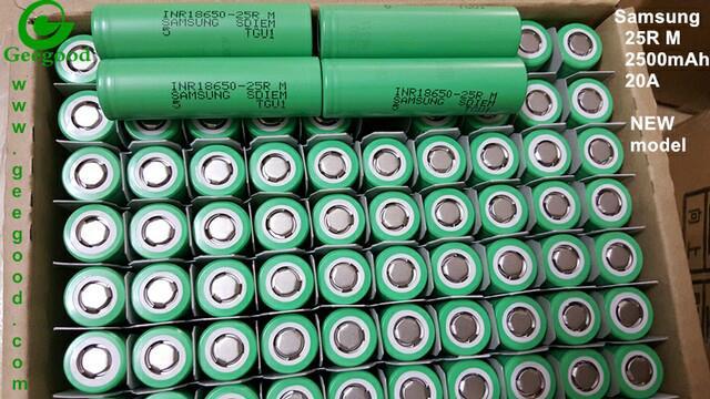 High Amp Battery >> Geniune Samsung Sdi 18650 Battery 25r 25rm 2500mah 20a High Amp