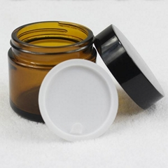 hot sale cosmetic packing glass cream jar