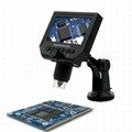600x Usb Portable Digital Video Microscope with HD OLED Screen